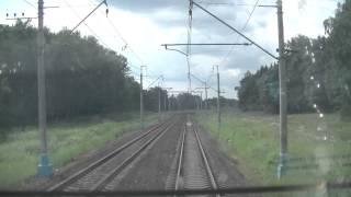 От Киевского вокзала до ст. Нара в кабине ЧС7