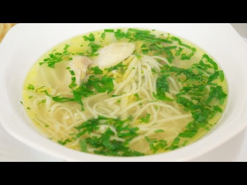 Суп на курином бульоне для
