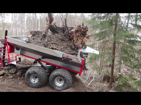 Big load on ATV-trailer with can-am