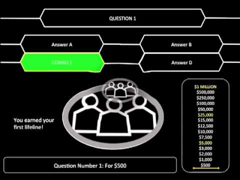 Who wants to be a millionaire ppt v9 youtube for Who want to be a millionaire template powerpoint with sound