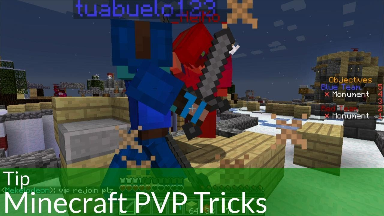 Minecraft Creative Tips Tricks: Tip: 5 Minecraft PVP Tricks