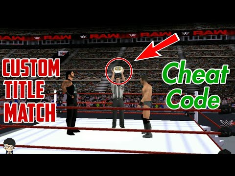 Custom Title Match Cheat Code |Play Any Title Match Anytime In Wwe Svr 2011 PSP