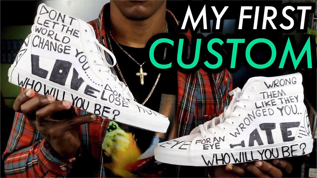 My First CUSTOM On Feet The Story Behind Shoe