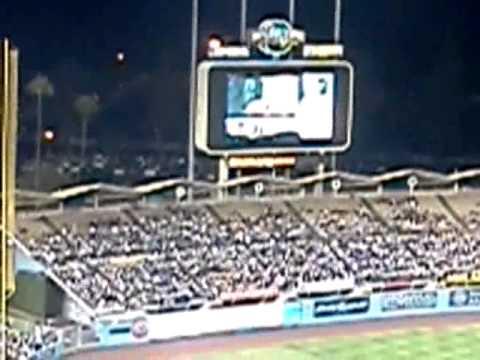 Tommy Lasorda's birthday @Dodger stadium