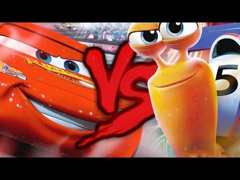 Relâmpago McQueen VS. Turbo | Combate De Rimas | Part. Nossa Mano E OSteve | Edit. Hard
