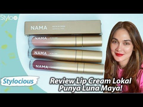 review-lipstik-luna-maya,-nama-beauty-lip-cream,-lip-gloss-&-metallic-|-makeup-lokal-terbaru