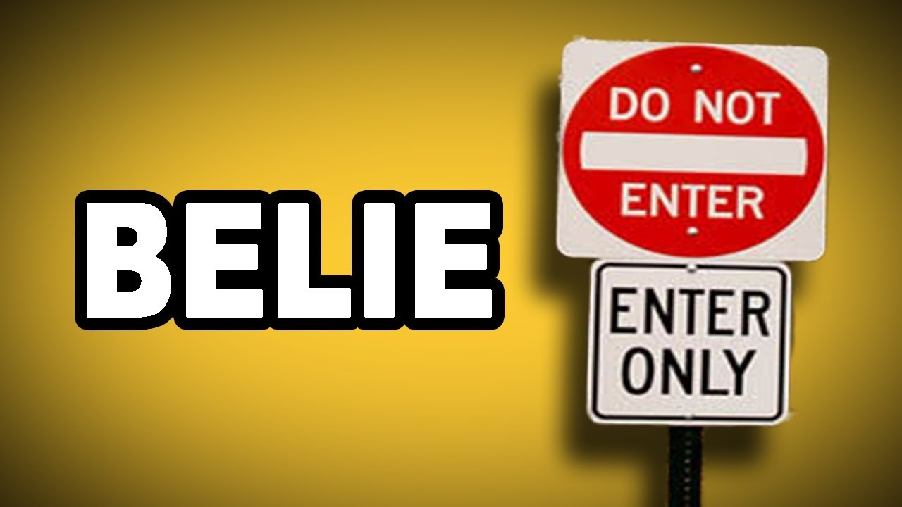 Learn English Words: BELIE - Meaning, Vocabulary with
