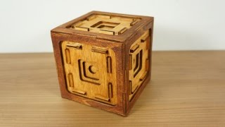 The button box a puzzle box with 41 steps!