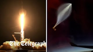 video: SpaceX Inspiration 4 launch: First all-civilian crew blast off on private Earth-circling trip