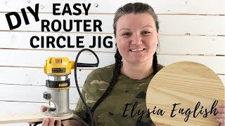 How to Build a Circle Cutting Jig for Your Router | Easy circle cutting | DIY Circle router jig