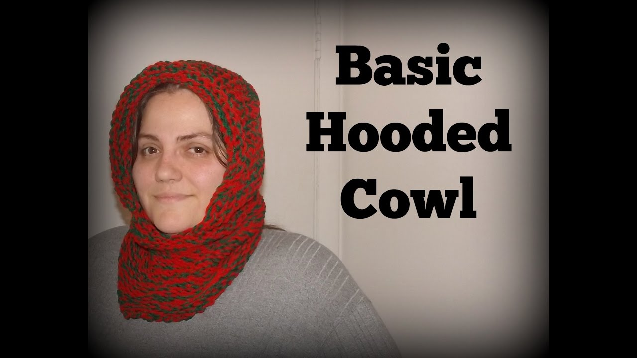 How To Make A Basic Hooded Cowl On A Loom - YouTube