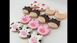 Çiftlik temalı kurabiye yapımı