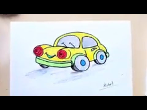 How To Draw A Car Easy Myhiton