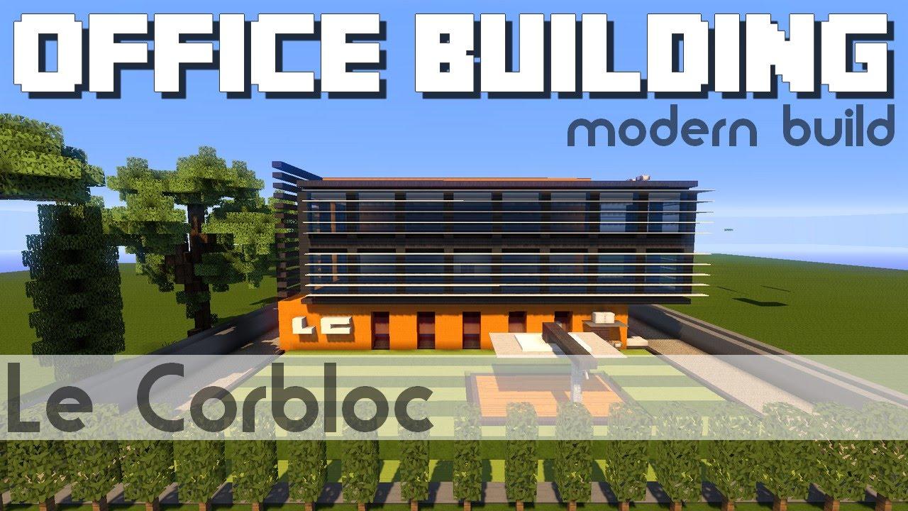 Minecraft immeuble de bureaux youtube - Immeuble minecraft moderne ...