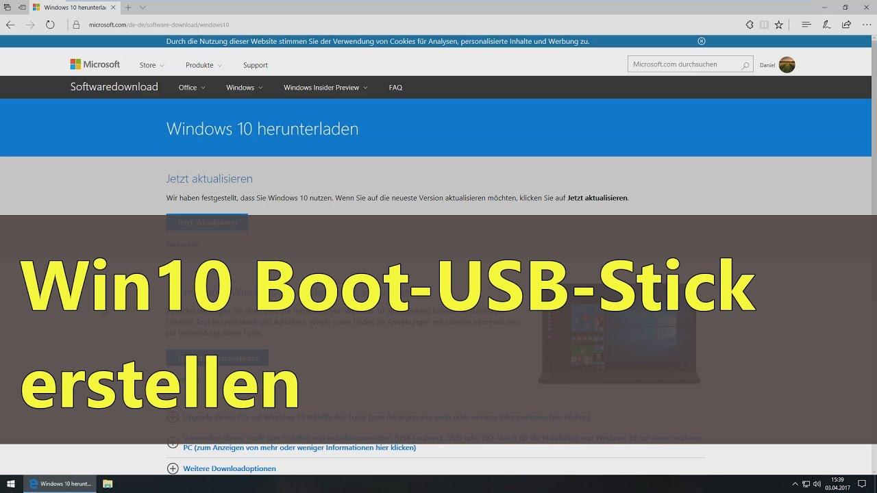 Boot Usb Stick Erstellen Windows 10