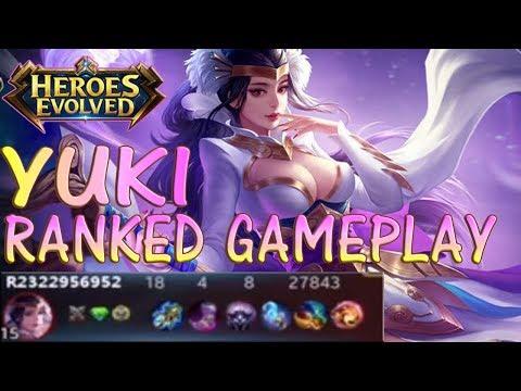 HEROES EVOLVED - YUKI RANKED GAMEPLAY & BUILD   INSANE BURST DAMAGE