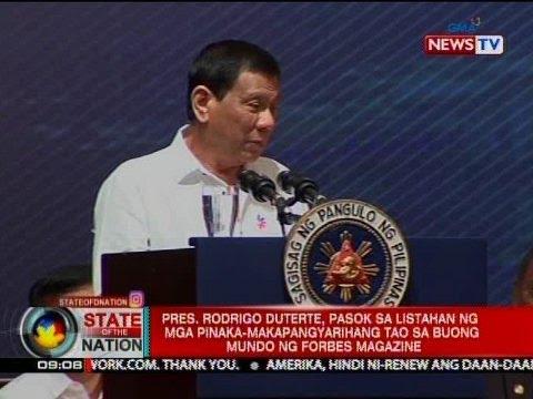 Pres. Duterte, pasok pinaka-makapangyarihang tao sa buong mundo ng   Forbes magazine