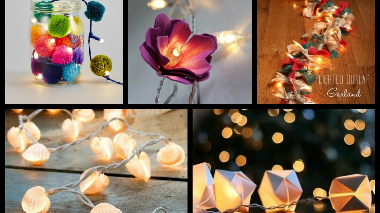 Best Diy String Lights Ideas Lighted Garland Tutorial Fairy Room Decor You