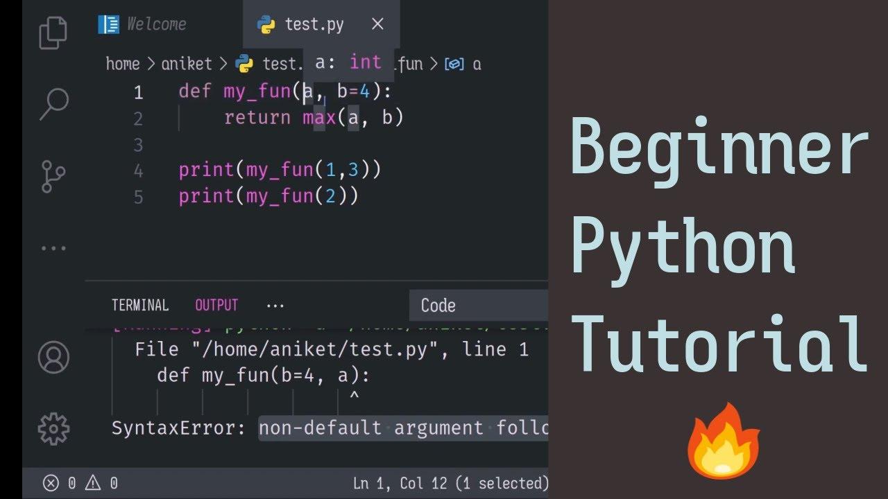 Python Tutorial for Beginners   From Zero to Hero