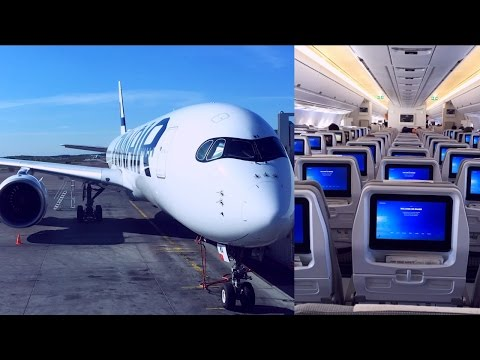 Empty Finnair Airbus A350-900 Helsinki - London Heathrow (OH