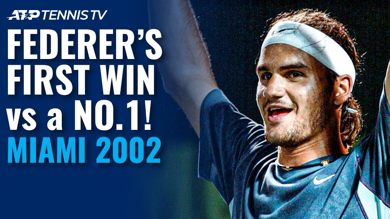 Roger Federer's First Win Over a World No.1! | Miami 2002 Highlights vs Hewitt