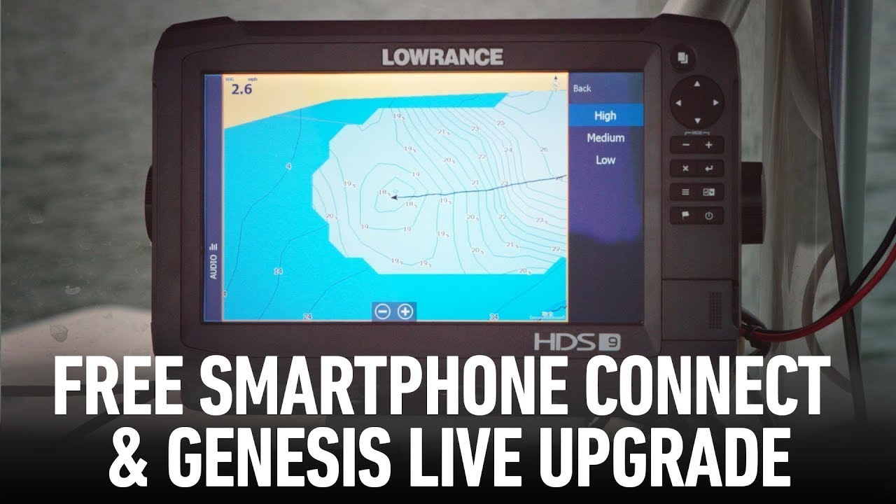Lowrance Smartphone Connect and Genesis Live Software Upgrade Walkthrough