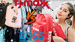 TJMAXX VS ROSS DEALS FOR BACK TO SCHOOL | PURSE BAG BACKS, NAME BRAND BOOK BAGS, AND SHOES!