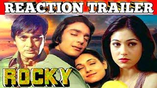 Rocky 1981Hindi Movie Trailer Reaction|Sanjay Dutt|Tina Munim|Raakhee|Action And Drama Movie