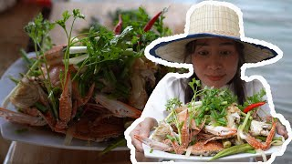 ASMR How to Cook Crispy Sea Foods (Crabs and Shrimps) [Phalla Lifestyle]