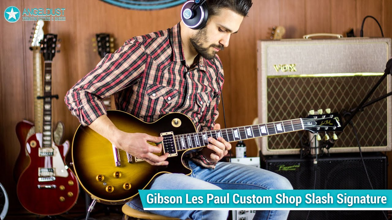 gibson slash les paul custom shop review guitar cover youtube
