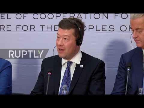 Czech Republic: Le Pen, Wilders hold joint presser after far-right Euro conference
