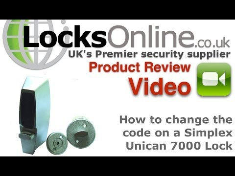 How to change the code on a simplex Unican 7000 combination Lock  LocksOnline Tech Help