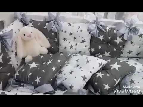 ч.2) Как сшить бортики в кроватку ребенку - YouTube