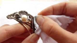 Wire wrap tutorial - polishing