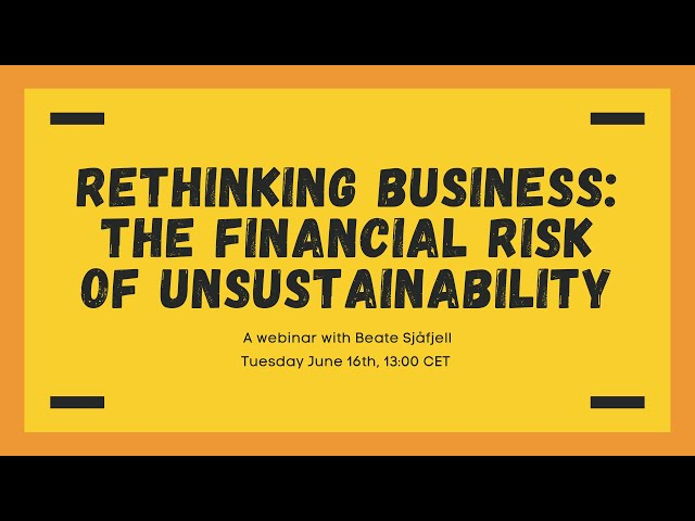 Rethinking Business: The Financial Risk of Unsustainability