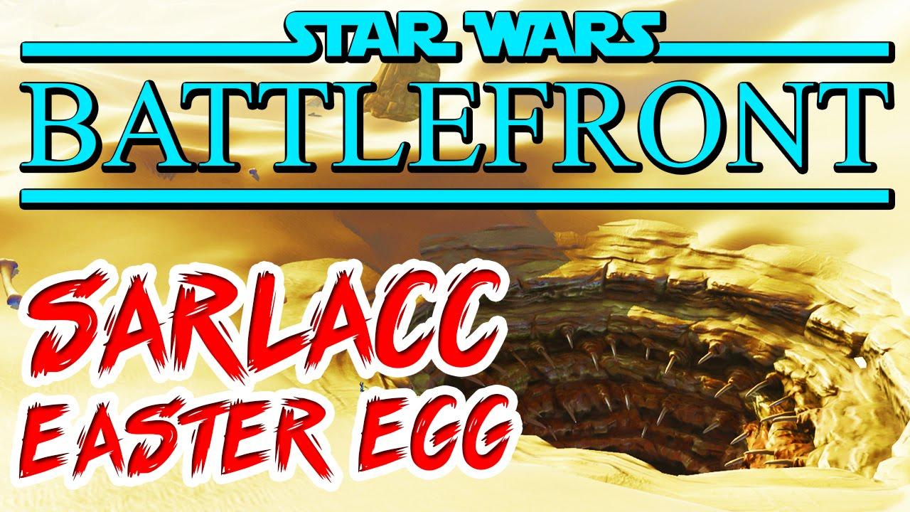 Star Wars Battlefront: SARLACC PIT EASTER EGG + C3PO & R2-D2 EASTER ...