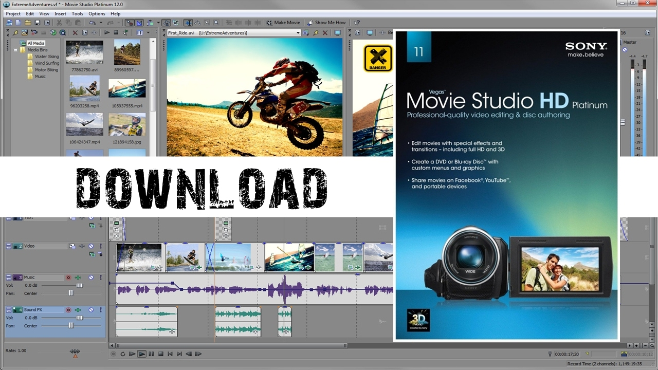 sony vegas movie studio platinum 12 download