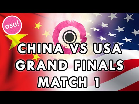 osu! World Cup 2015 - Grand Finals | China vs USA (Match 1) /w Twitch Chat