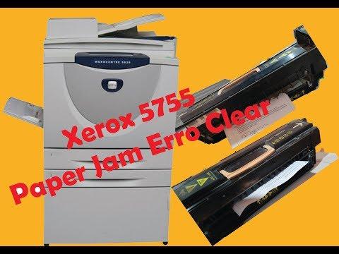 How to clear Xerox 5755 paper jam error