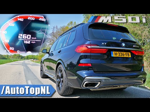 BMW X7 M50i 530HP 4.4 V8 0-250km/h ACCELERATION TOP SPEED & SOUND by AutoTopNL