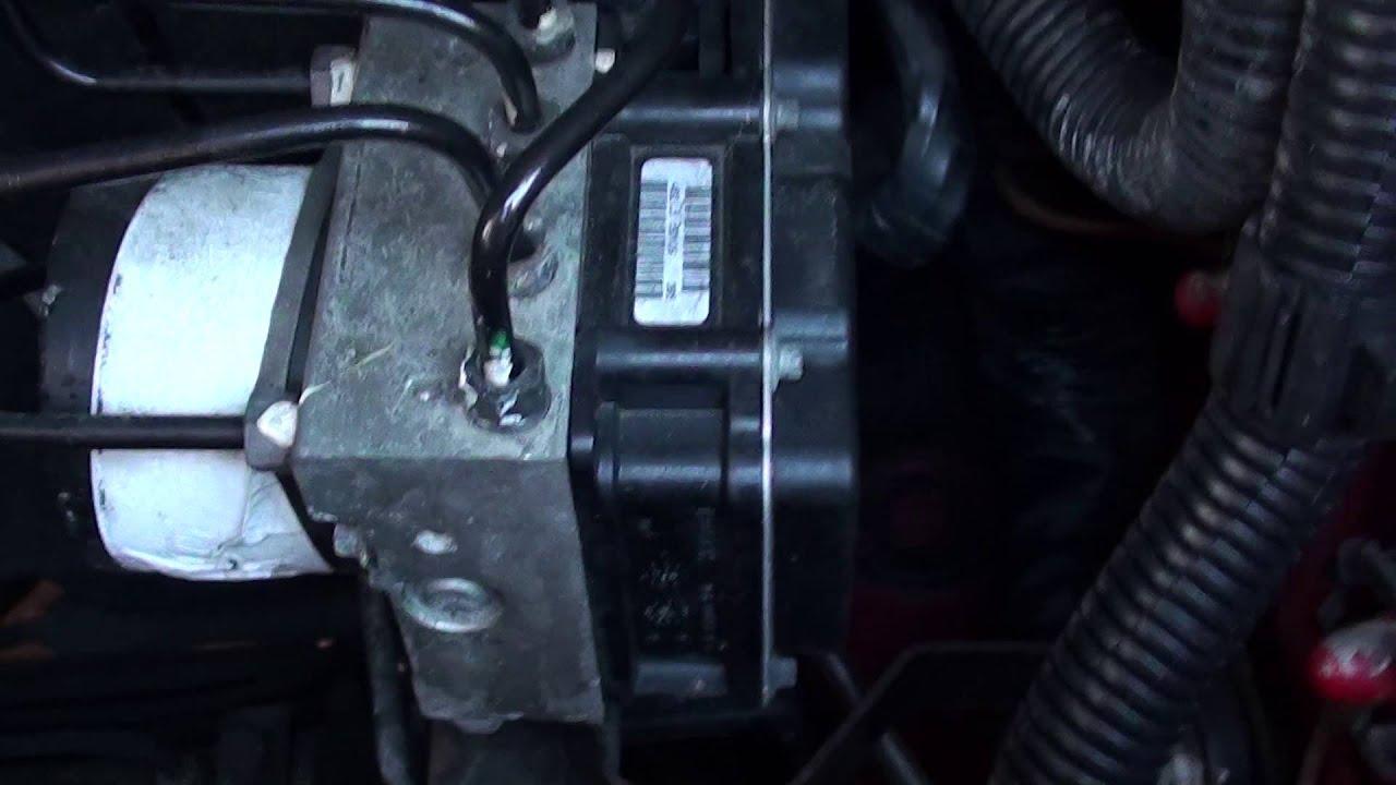 VW Fox ABS Pump & Module Location