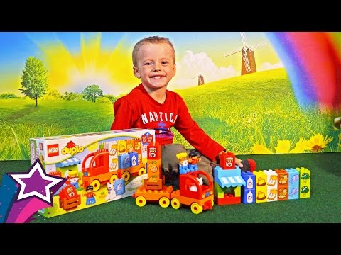 Thumbnail: Max Unboxes Plays with New Lego Play Set Toys For Kids with Toy Truck Car Learn Food For Children