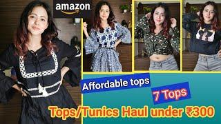 Amazon Tops Haul Under ₹300 | Amazon Tops/Tshirt Haul | Amazon Western Wear Haul | Amazon Tops Haul