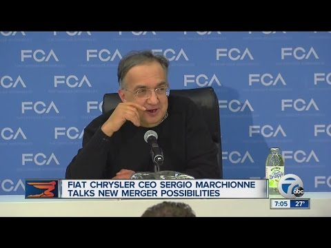 Fiat Chrysler CEO Sergio Marchionne talks new merger possibilities
