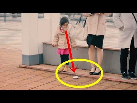 【海外の反応】すごい!世界が感動!!日本の子供のある光景に親日外国人が驚愕!日本人の民度を表す社会実験映像に大反響!!
