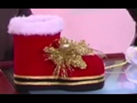 Como hacer una Bota de Navidad Reciclable - Hogar Tv por Juan Gonzalo Angel