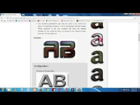 online png text creat
