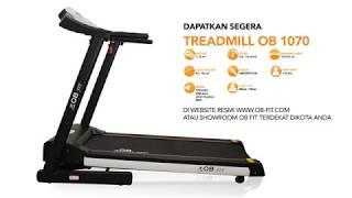 OB Fit OB-1070 New Electric Treadmill with Ergonomic Design Auto Incline