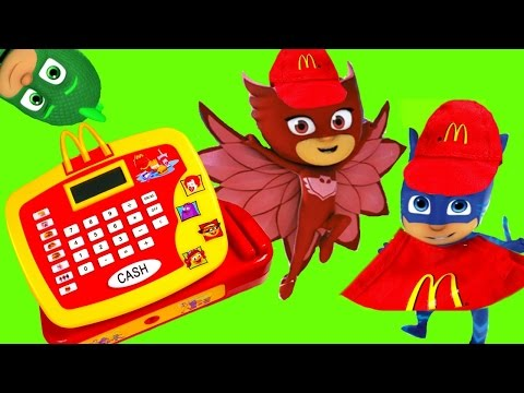 PJ Masks Work the Register at McDonald's
