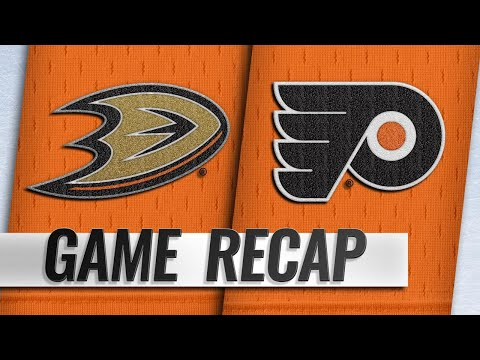 Hart ties League record as Flyers down Ducks, 6-2
